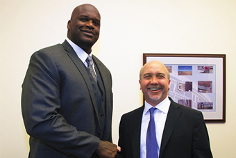 BA Legend Shaquille O'Neal Holds Court at McDonough