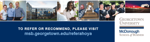To refer or recommend, please visit msb.georgetown.edu/referahoya